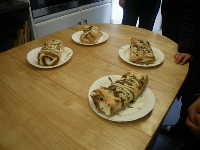 Roulades made at Cookery Club