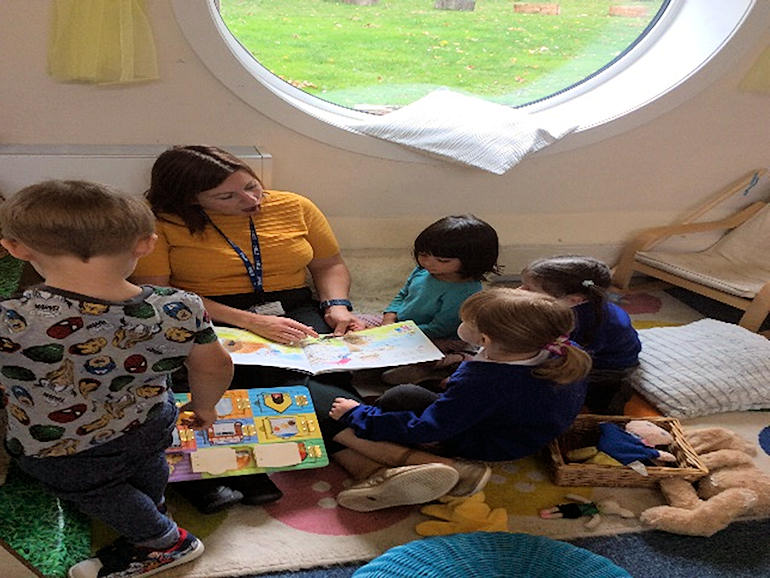 Indoor learning at Nursery