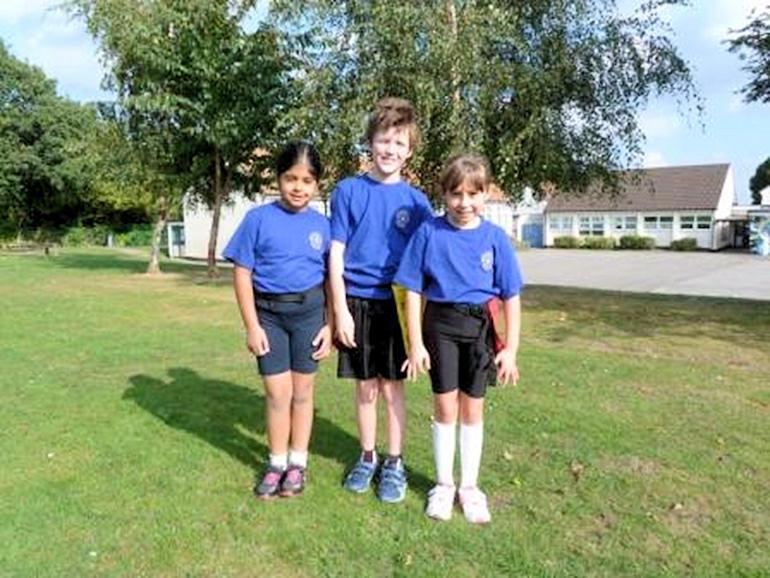 Children wearing PE kit