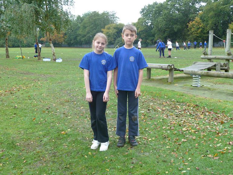 Children wearing sports kit